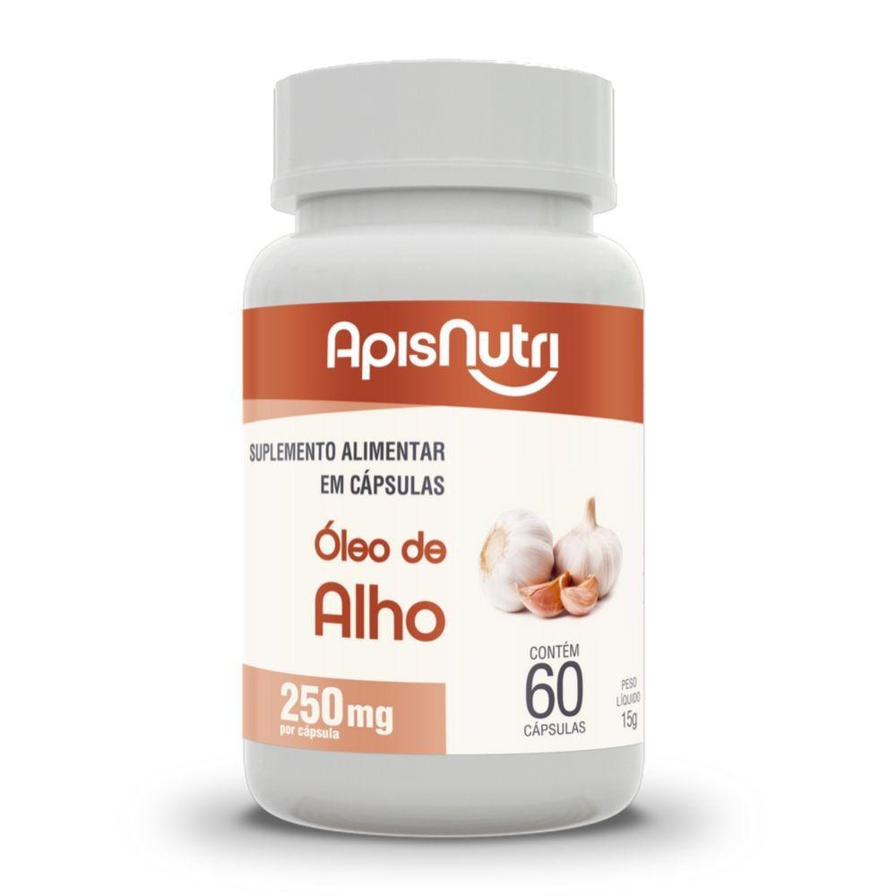 Óleo de Alho - 60 Cáps. - 250mg - Apisnutri