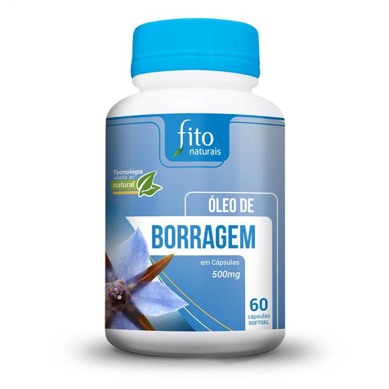 Óleo de Borragem - 60 Cáps. - 500mg - Fito Naturais