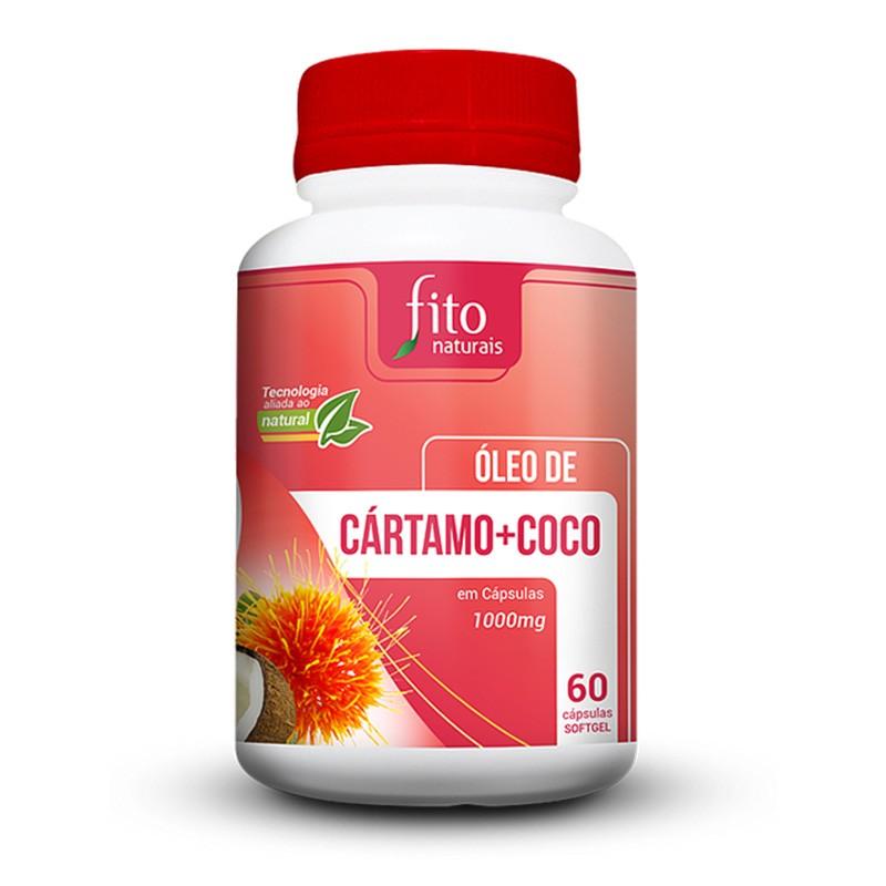 Óleo de Cártamo + Coco - 60 Cáps. - 1000mg - Fito Naturais