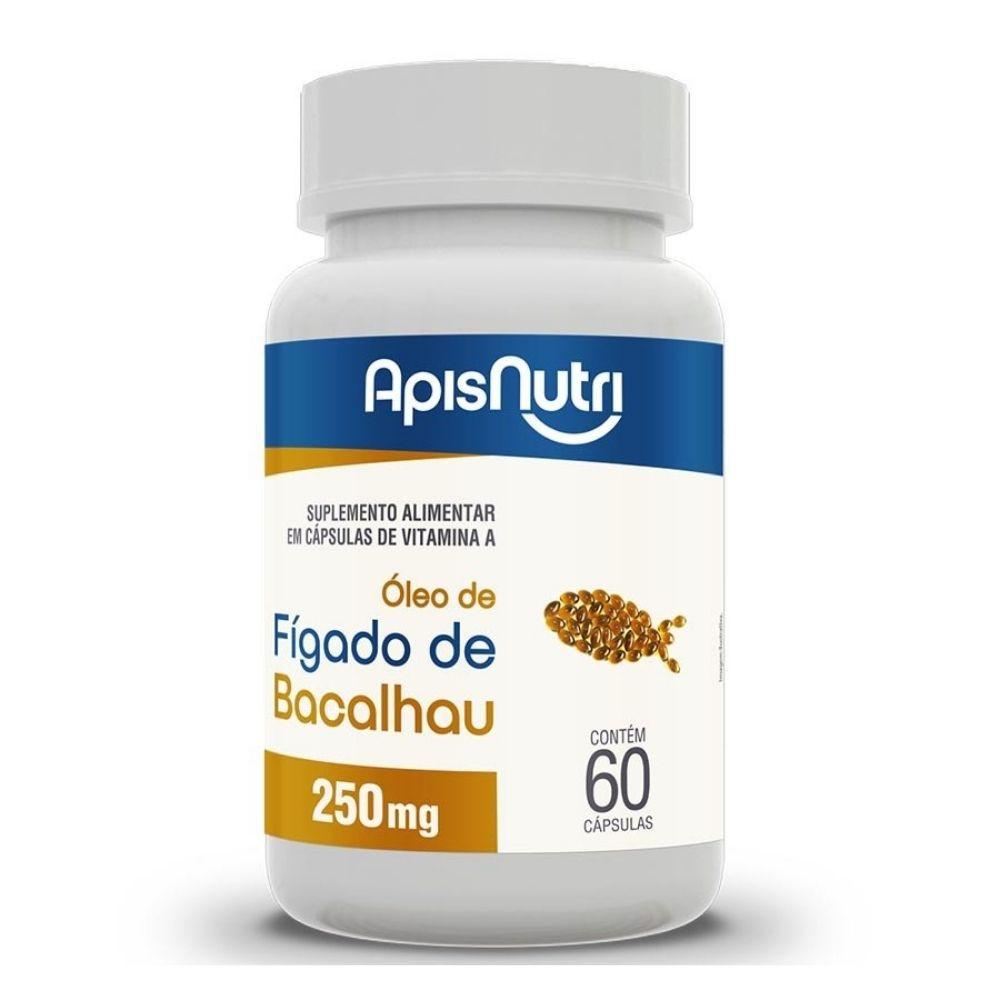 Óleo de Fígado de Bacalhau - 60 Cápsulas - Apisnutri