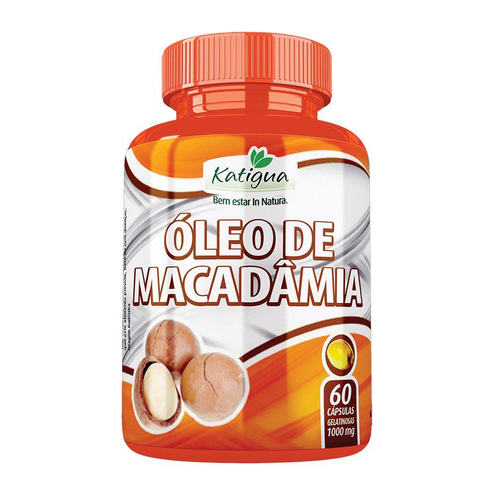 Óleo de Macadâmia - 60 Cápsulas - Katiguá