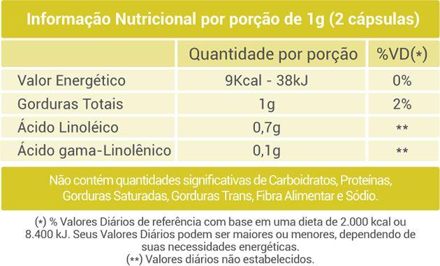 Óleo de Prímula - 60 Cáps. - 500mg - Fito Naturais