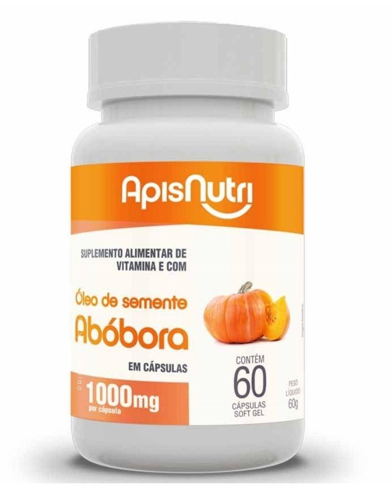 Óleo de Semente de Abóbora - 60 Cápsulas - Apisnutri