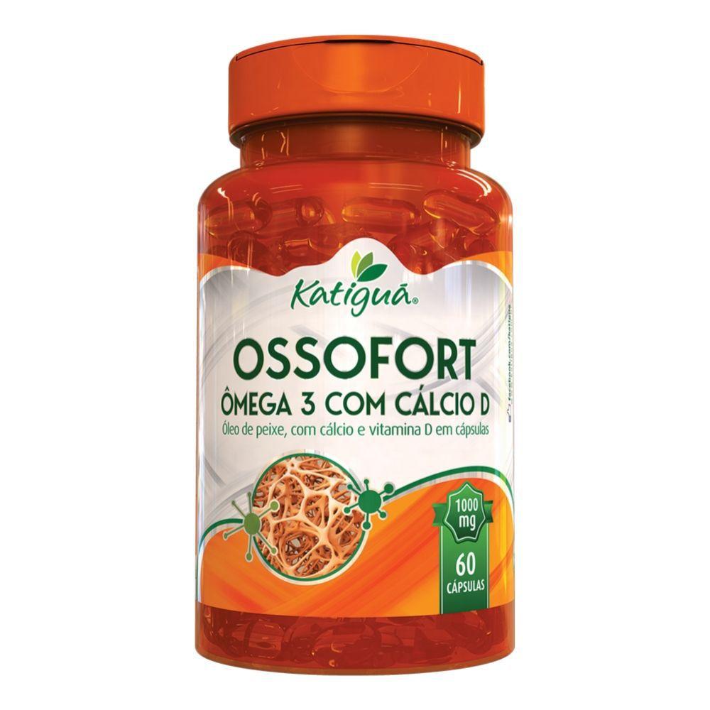 Ômega 3 com Cálcio D - OssoFort - 60 Cápsulas - Katiguá