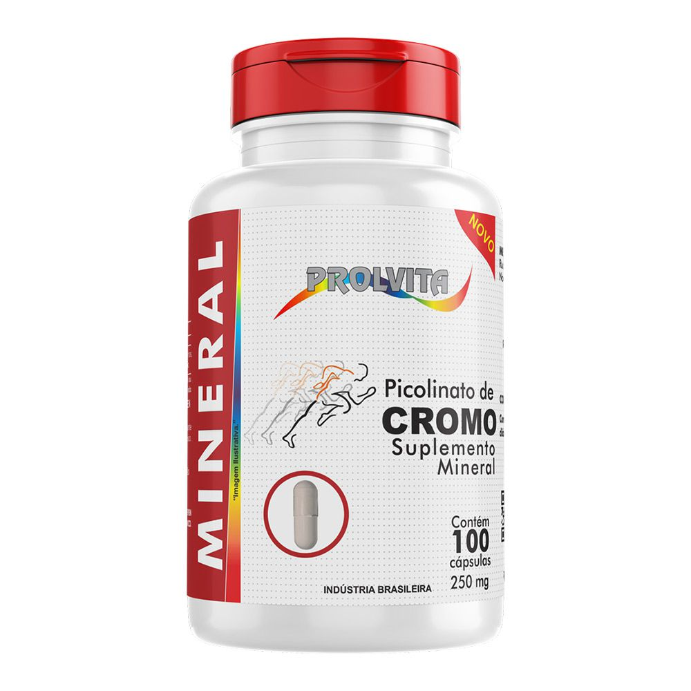 Picolinato de Cromo - 100 Cáps. - 250mg - Melcoprol