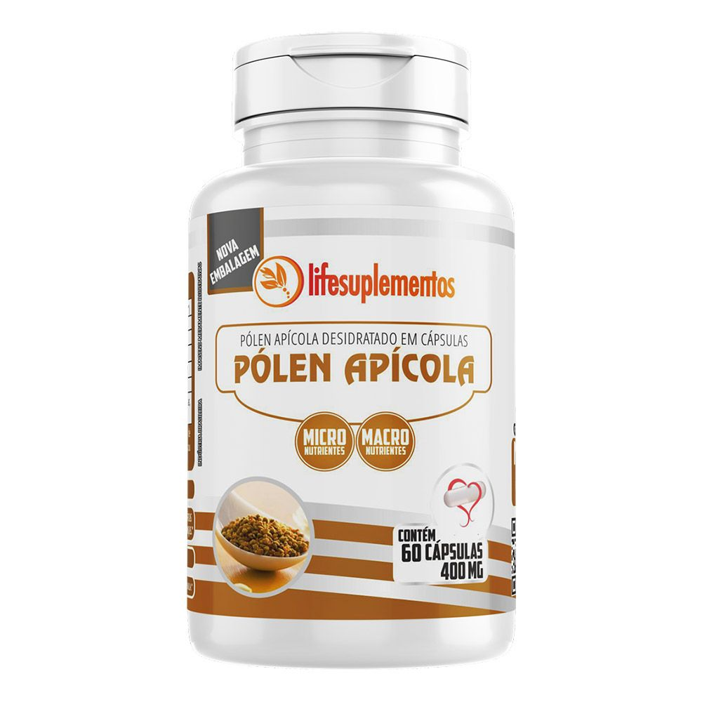 Pólen Apícola Desidratado - 60 Cápsulas - Melcoprol