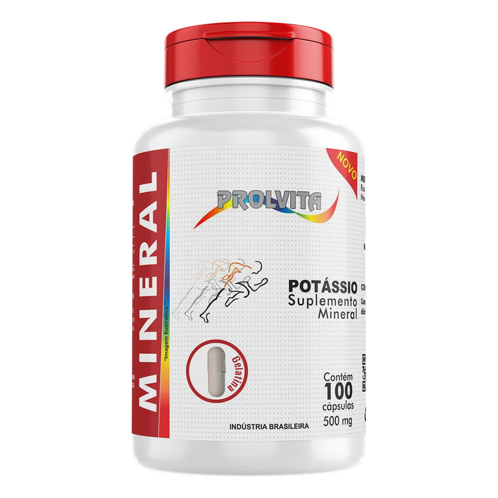 Potássio - Suplemento Mineral - 100 cáps - 500mg - Melcoprol
