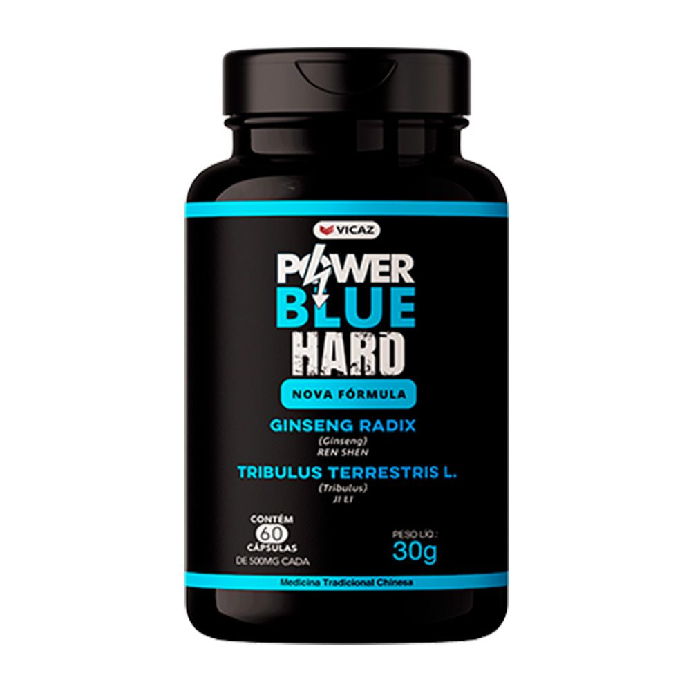 Power Blue Hard - 60 Cáps. - 500mg - VICAZ