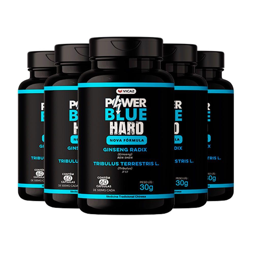 Power Blue Hard - Promoção 5 Unidades de 60 Cápsulas  - VICAZ
