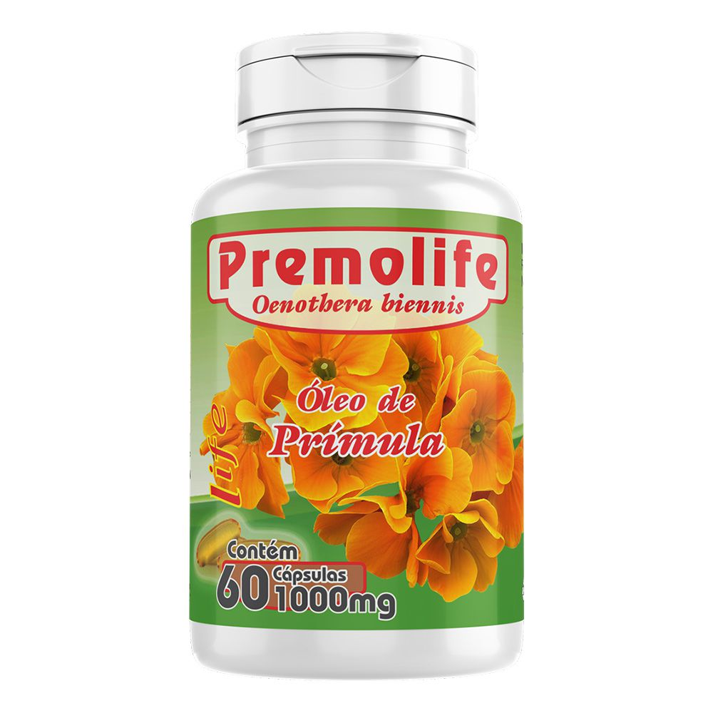 Óleo de Prímula - Premolife - 60 Cápsulas - Melcoprol