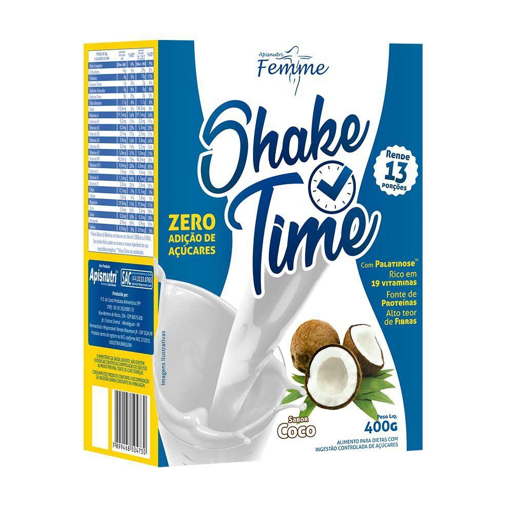 Shake Time - Sabor Coco - 400g - Apisnutri