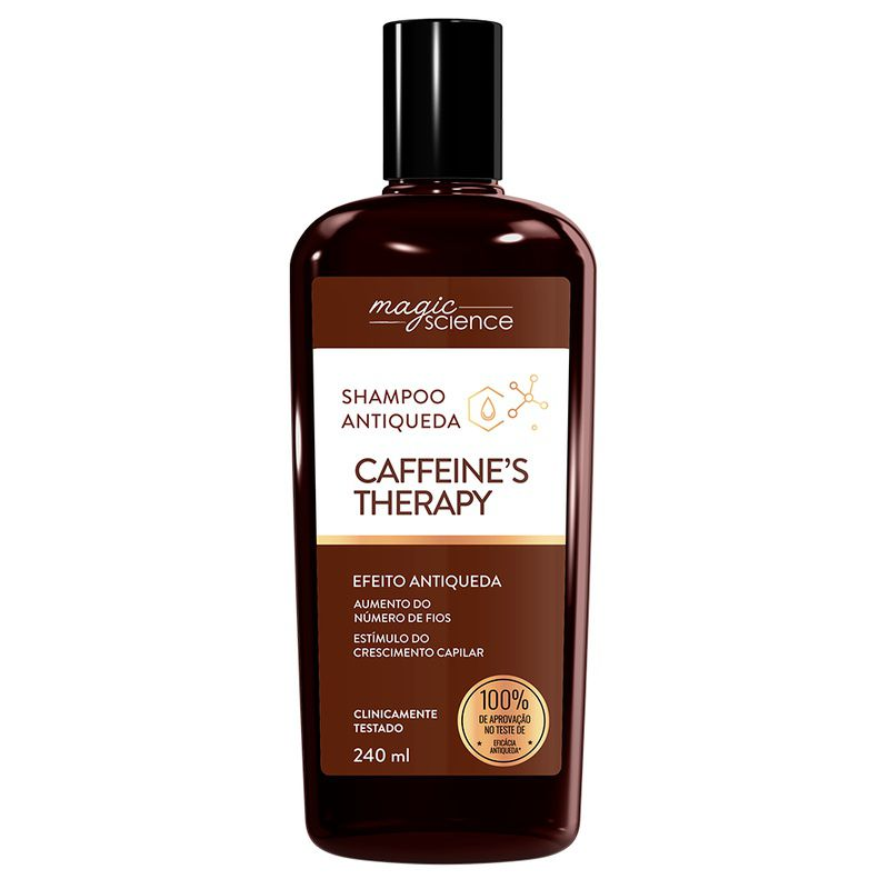Shampoo Caffeine´s Therapy: Crescimento e Antiqueda - 240 ml - Magic Science