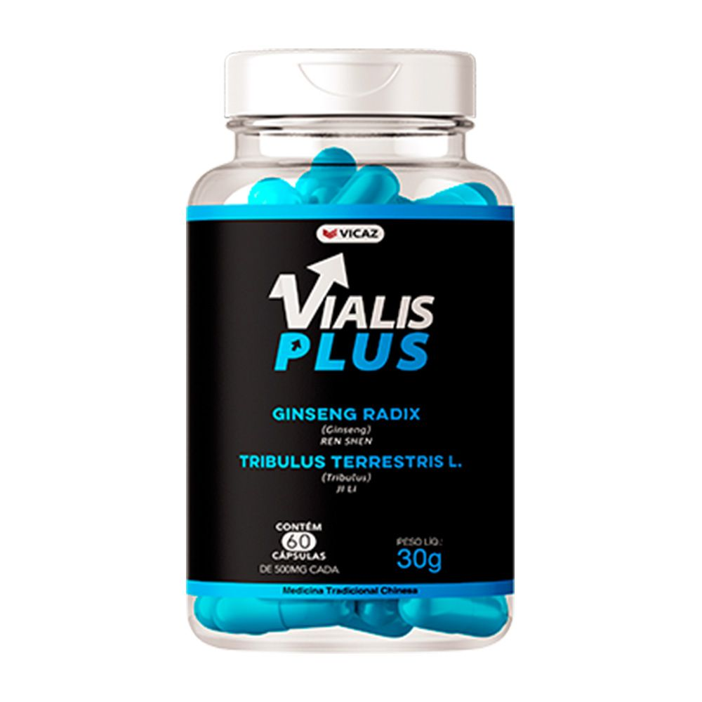 Vialis Plus - 60 Cáps. - 500mg - VICAZ