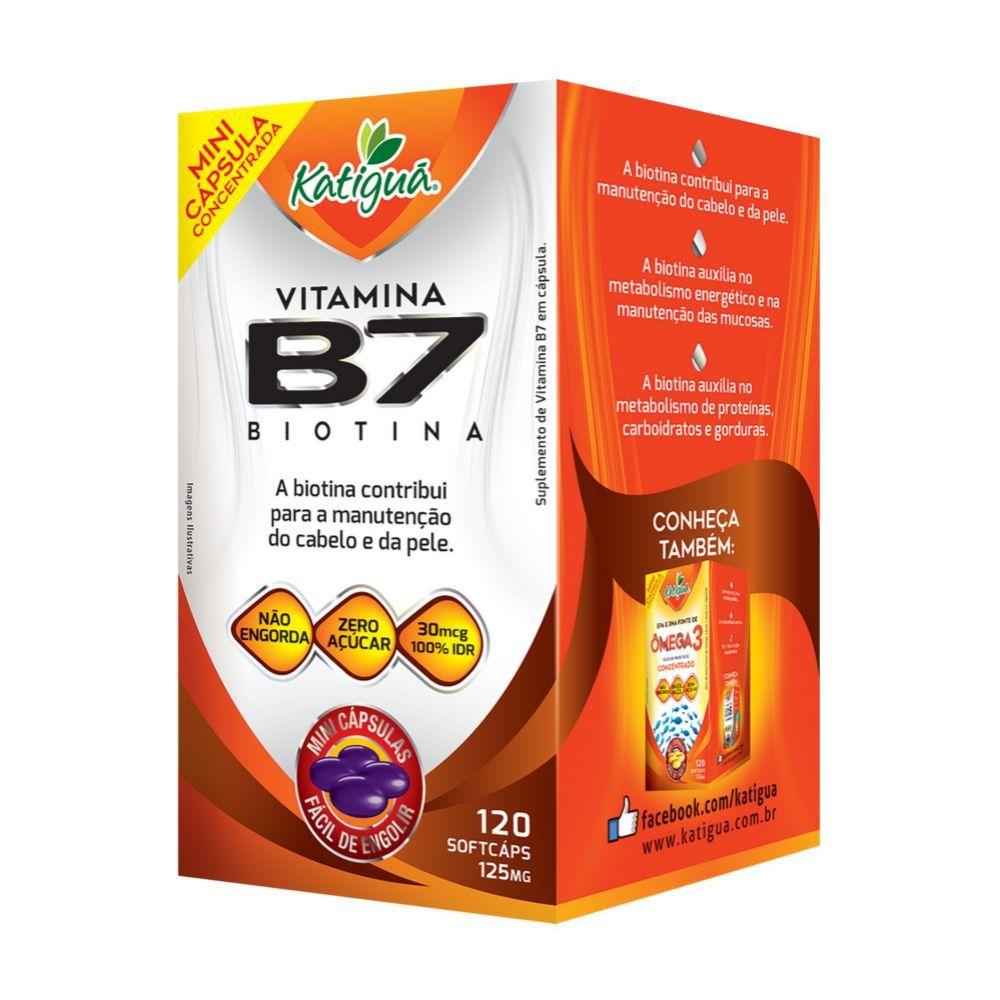 Vitamina B7 - 120 cápsulas  - 125mg - Katiguá