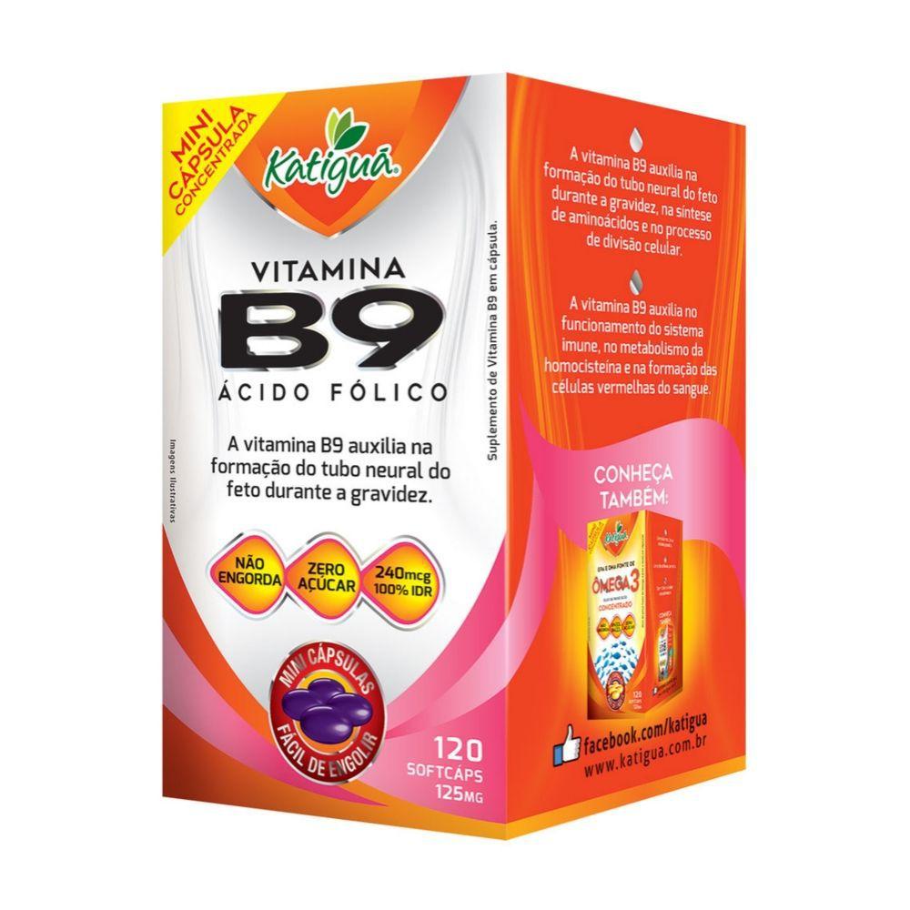 Vitamina B9 - 120 cápsulas  - 125mg - Katiguá