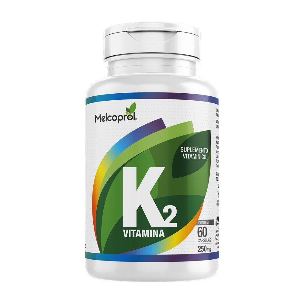 Vitamina K2 - Suplemento Vitamínico - 60 Cáps -  250mg - Melcoprol
