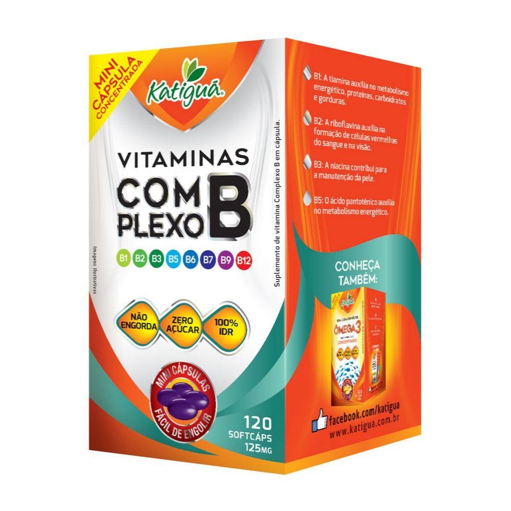 Vitaminas Complexo B - 120 Cáps. - 125mg - Katiguá