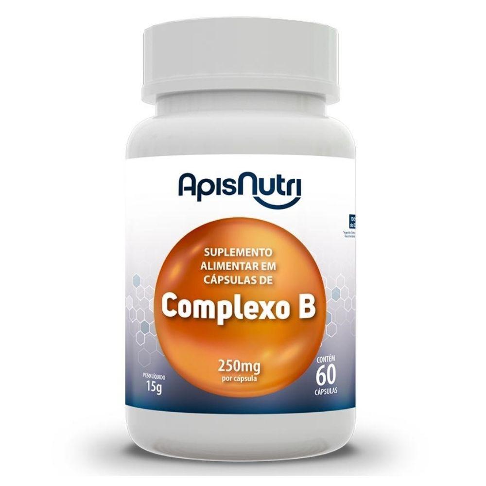 Vitaminas do Complexo B - 60 Cápsulas - Apisnutri