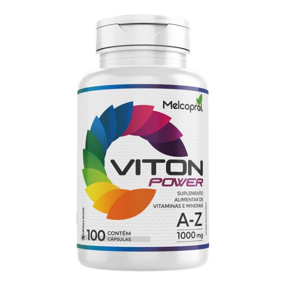 Viton Power - Suplemento Vitamínico Mineral AZ  - 100 cápsulas  - 1000mg - Melcoprol