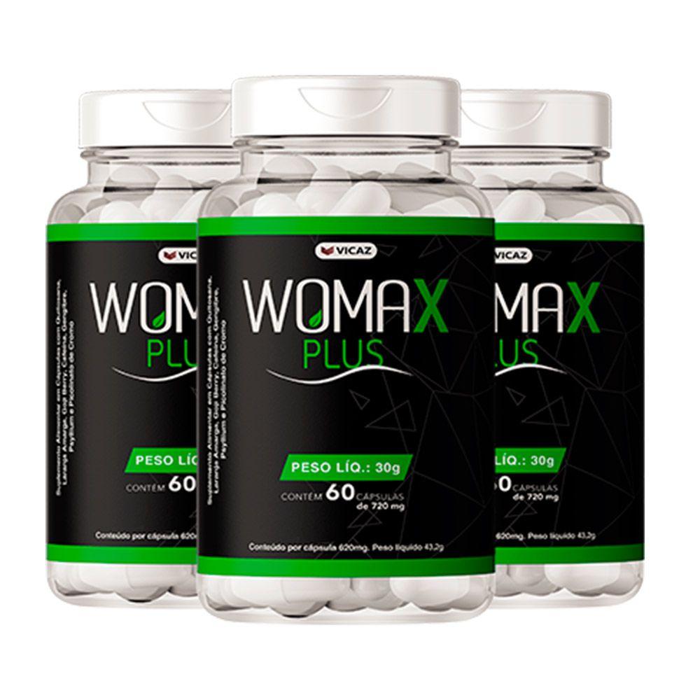 Womax Plus - Promoção 3 Unidades  de  60 Cápsulas - VICAZ
