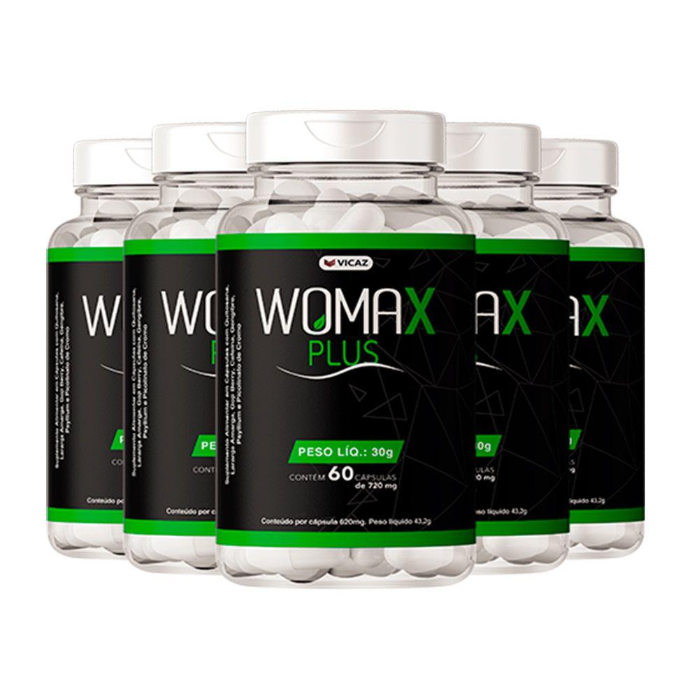 Womax Plus - Promoção 5 Unidades de 60 Cápsulas - VICAZ
