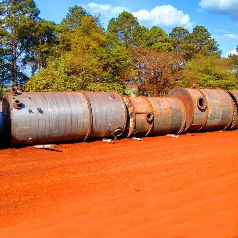 APARELHO DE DESTILAÇÃO PARA ÁLCOOL HIDRATADO E ANIDRO 110 M³/DIA