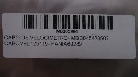 CABO DE VELOCIMETRO - MB 3845423507 - CABOVEL 129119 - FANIA 60289