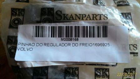 PINHAO DO REGULADOR DO FREIO VOLVO 1696925