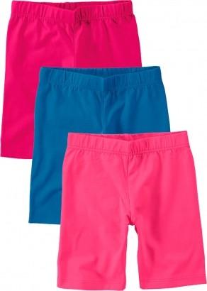 Bermuda Ciclista Infantil Feminino Verão Rosa Kit 3 Malwee