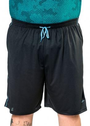 Bermuda Masculina Adulto Plus Size Preta Esporte - Elite