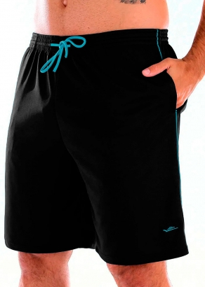 Bermuda Masculina Adulto Preta Fitness Esportiva - Elite