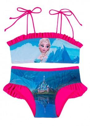 Biquini Infantil Rosa Elsa Frozen Tip Top
