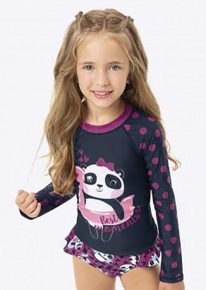 Biquini Infantil Verão Azul Panda Summer Malwee