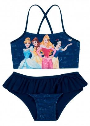 Biquini Infantil Verão Azul Princesas Tip Top