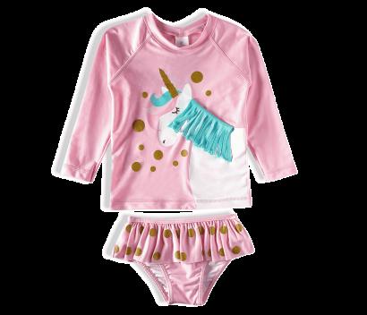 Biquini Infantil Verão Rosa Unicórnio Tip Top