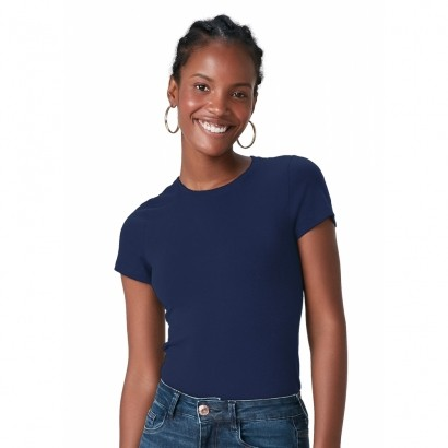 Blusa ADULTO Feminina Verão Azul Marinho Malwee