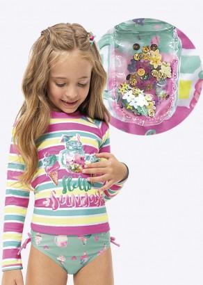 Blusa com Proteção UV Infantil Verão Rosa Sunday Malwee