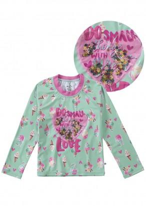 Blusa Infantil com Proteção UV 50+ Ice Cream Malwee