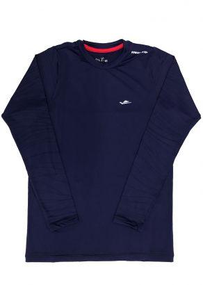 Blusa Térmica Infantil com Proteção UV50+ Marinho Elite