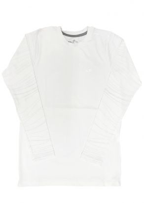 Blusa Térmica Infantil com Proteção UV50+ Branca Elite