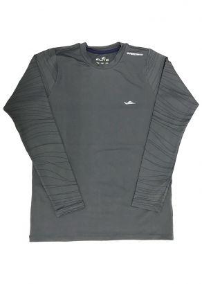 Blusa Térmica Infantil com Proteção UV50+  Cinza Elite
