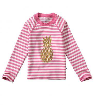 Blusa Térmica Infantil com Proteção UV50+ Rosa Abacaxi Malwee
