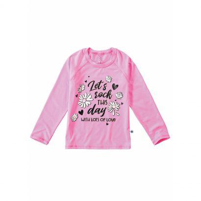 Blusa Infantil com Proteção UV 50+ Rosa Let's Malwee