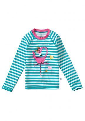 Blusa Infantil com Proteção UV 50+ Verde Flamingo Malwee