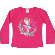 Blusa Infantil Feminina Inverno Rosa Bailarina Elian
