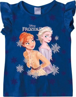 Blusa Infantil Feminina Verão Azul Frozen Malwee