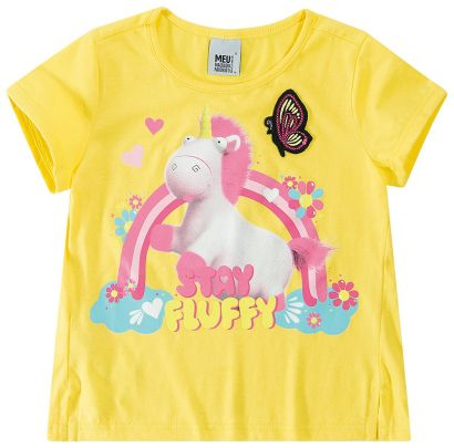 Blusa Infantil Feminina Verão Amarela Fluffy Malwee