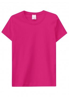 Camiseta Infantil Feminina Rosa Malwee Resistente à Água