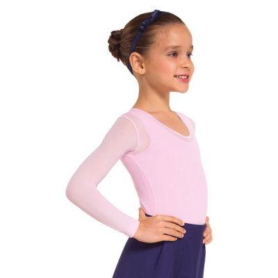 Blusa Segunda Pele Infantil Lupo Feminina Rosé Para Ballet