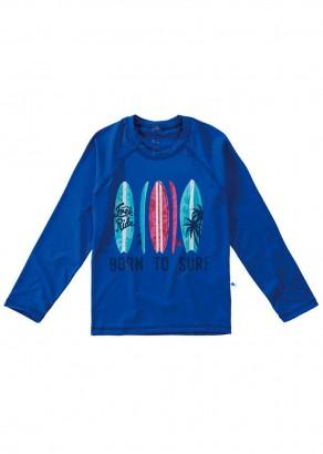 Blusa Térmica Infantil com Proteção UV50+ Azul Surf Malwee